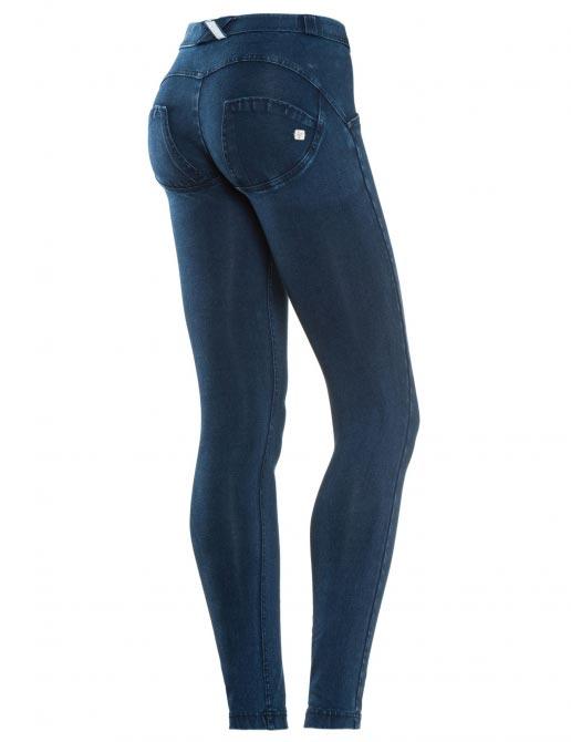 Freddy jeans tmavě modré, modrý šev, normální pas