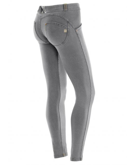 Freddy jeans šedivé, potrhané, skinny střih