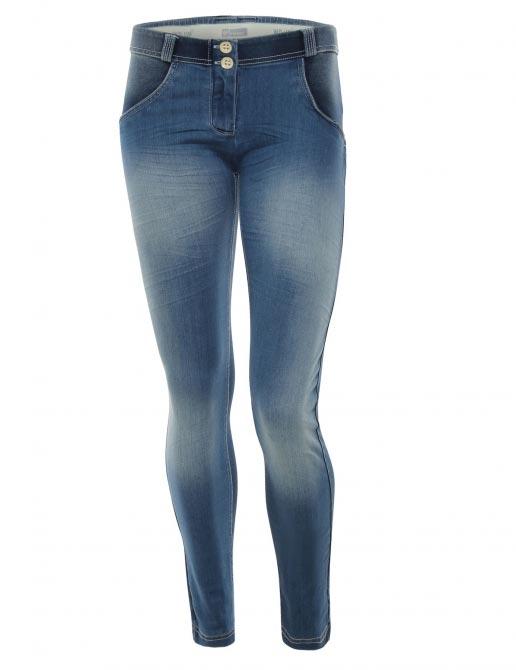 Freddy jeans tmavě modré, seprané, normální pas