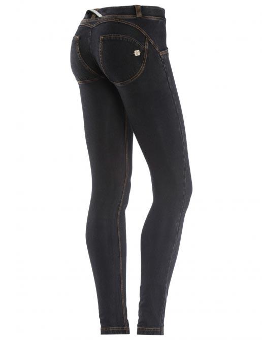 Freddy jeans černé, žlutý šev, skinny střih