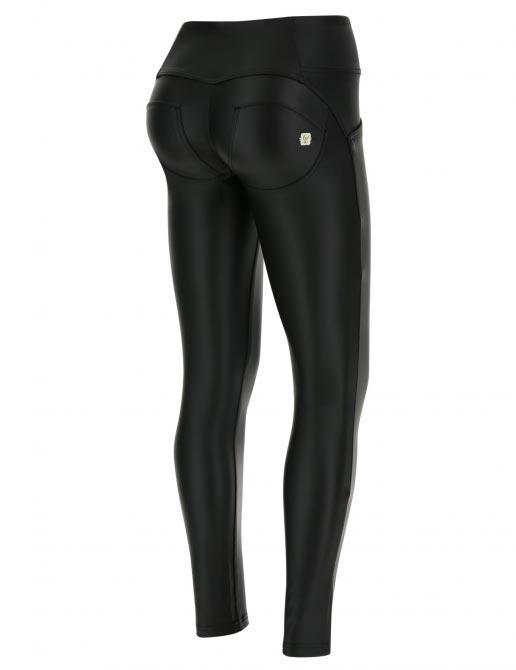 Freddy kalhoty černé kožené, střední pas