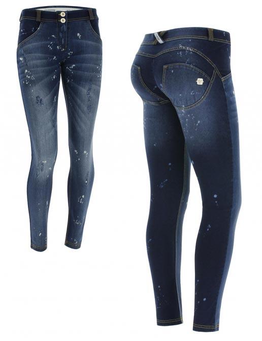 Freddy jeans modré, pocákané, normální pas