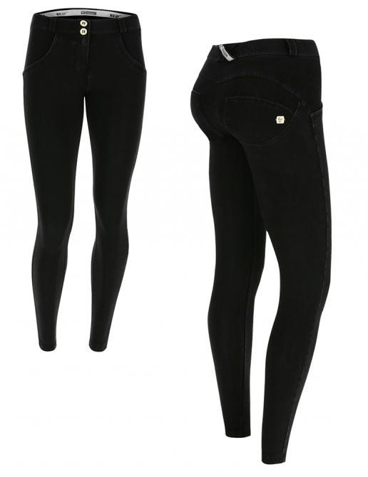 Freddy jeans černé, 7/8 střih, normální pas