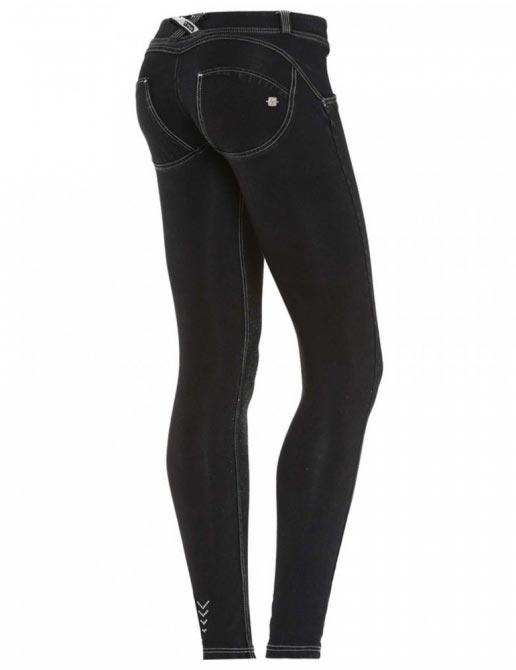 Freddy jeans černo-stříbrné, skinny střih